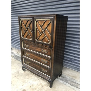 Mid Century Chinoiserie American of Martinsville Tallboy Dresser Armoire Preview