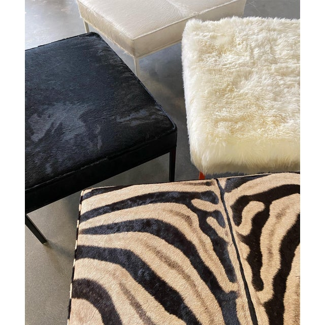 The Forsyth Ottoman in Sheepskin For Sale - Image 9 of 10