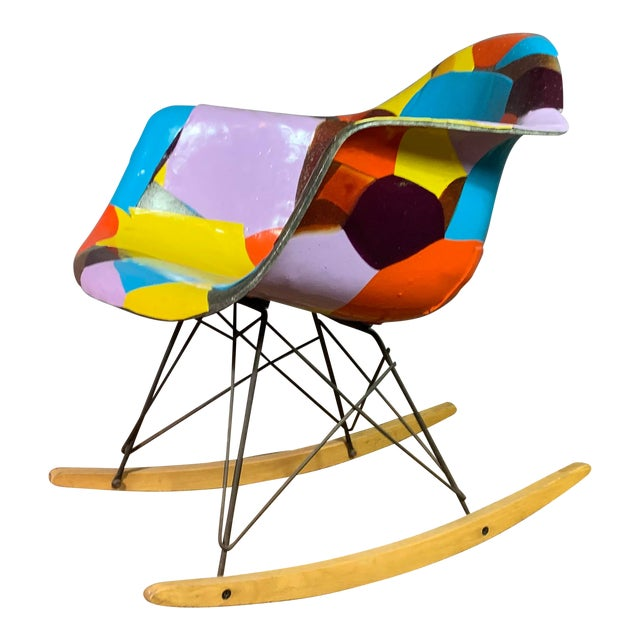 1950s Jim Oliveira for Eames Rope Edge Rocking Chair For Sale