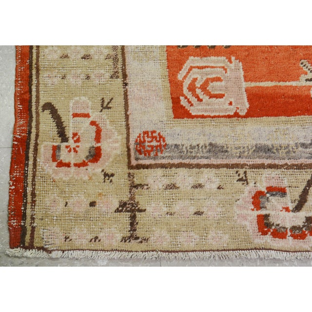 """Late 20th Century Antique Khotan Rug,5'x8'5"""" For Sale - Image 5 of 7"""