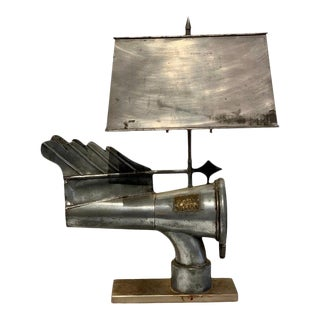 Custom Antique Industrial Ventilation Cone, by Banners No. 11593, Now as a Lamp For Sale