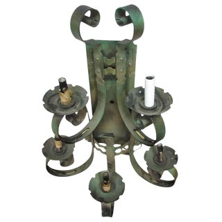 5-Arm Iron Wall Sconce For Sale