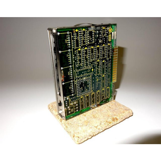 Sony Circa Mid-20th Century Television Time Code Circuit Board on Stone For Sale - Image 4 of 7