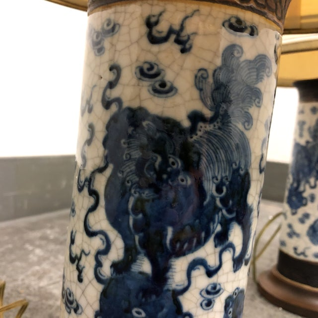 15th Century & Earlier Pair of Antique Ming Dynasty Vase Table Lamps For Sale - Image 5 of 13