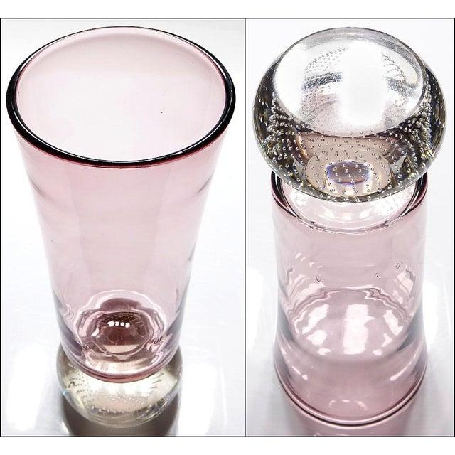 1950s Mid-Century Modern Erickson Studio Bullicante Art Glass Vase For Sale - Image 5 of 9