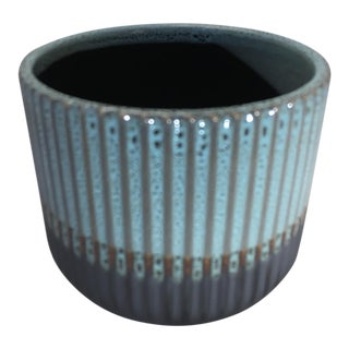 Palma Blue Small Ceramic Flower Pot For Sale