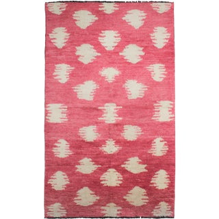 "Aara Rugs Inc. Hand Knotted Ikat Rug - 10'0"" X 6'1"" For Sale"