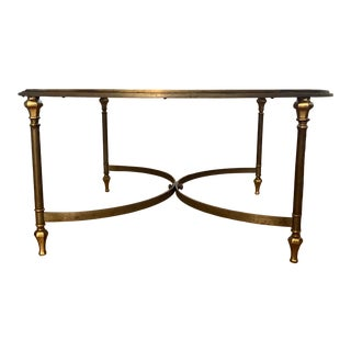 1950s Maison Jansen Style Brass Coffee Table For Sale