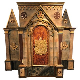 Magical Large Meticulously Detailed Gilt Cathedral Sculpture For Sale