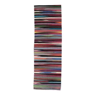 Turkish Modern Kilim Wool Runner For Sale