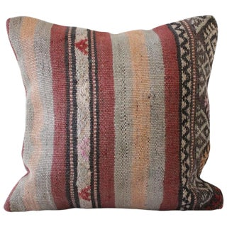 20th Century Turkish Oushak Rug Pillow For Sale