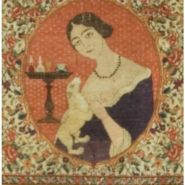 Vintage Persian Pictorial Rug - 2′3″ × 2′8″ - Image 2 of 2