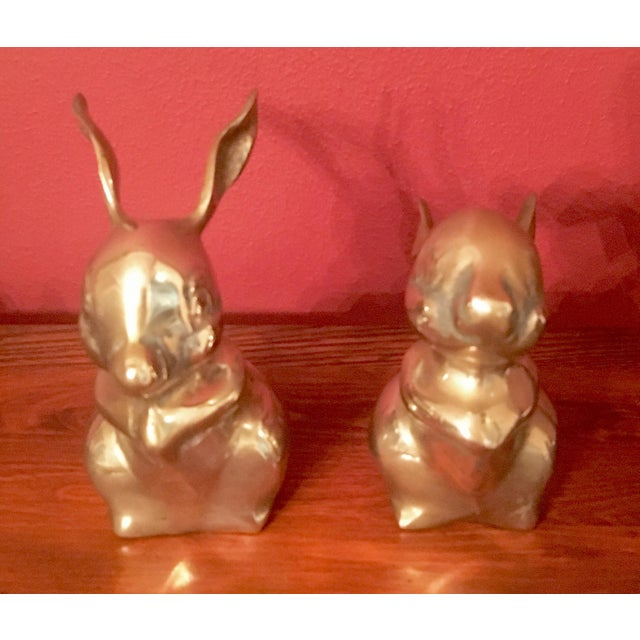 Mid-Century Brass Rabbits - A Pair - Image 5 of 7