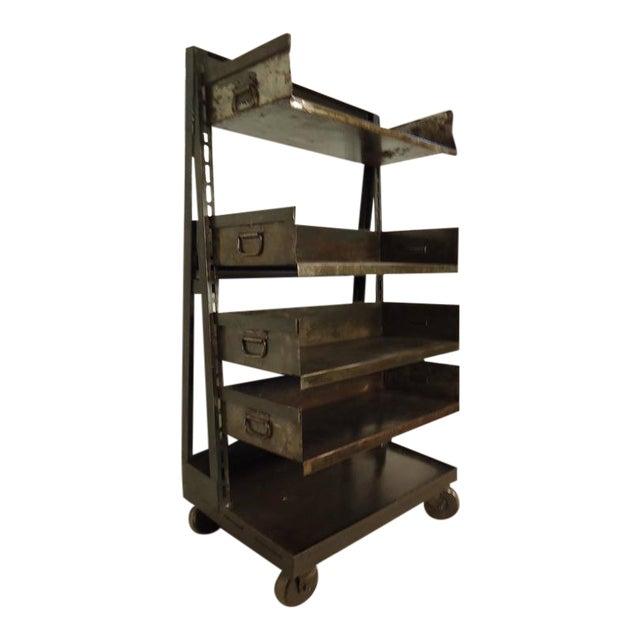 Industrial Five Level Shelving Unit For Sale