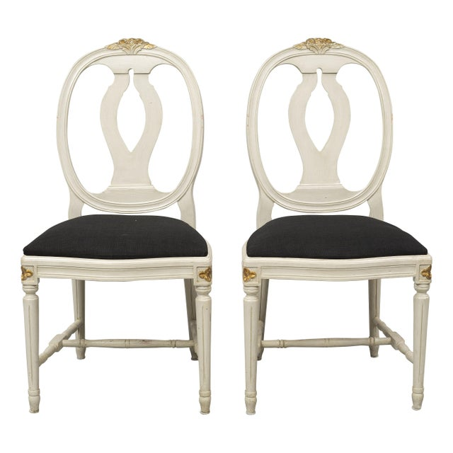 French 1970s Vintage Gustavian Rose Chairs - Set of 6 For Sale - Image 3 of 10