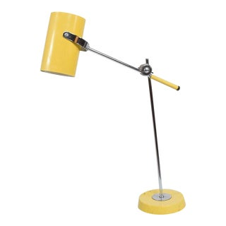 Mid-Century Modern Yellow Table Lamp For Sale