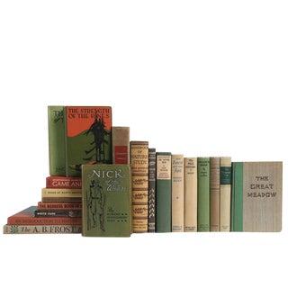 Outdoor Adventures in Green & Brown - Twenty Vintage Decorative Books