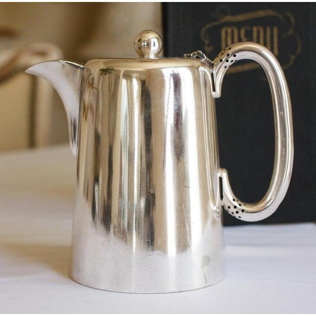 Antique Sheffield Warwick Castle Hotel Uk Coffee Pot - Image 6 of 8