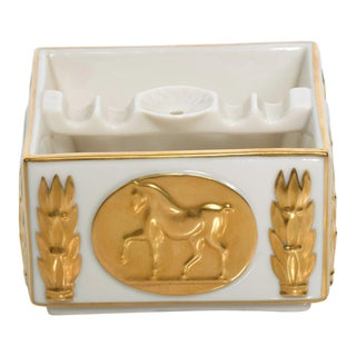 Mid Century Modern Lenox Golden Stallion Ash Tray Designer's Collection 24k Gold For Sale