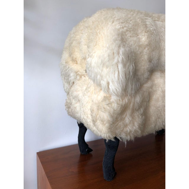 Sheep Sculpture Ottoman in the Style of Lalanne For Sale - Image 4 of 10