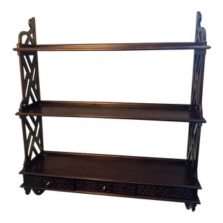 20th Century Chippendale Mahogany Shelf For Sale