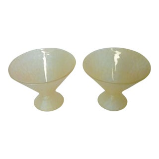 Vintage 1960s French Yellow Martini Glasses - a Pair For Sale