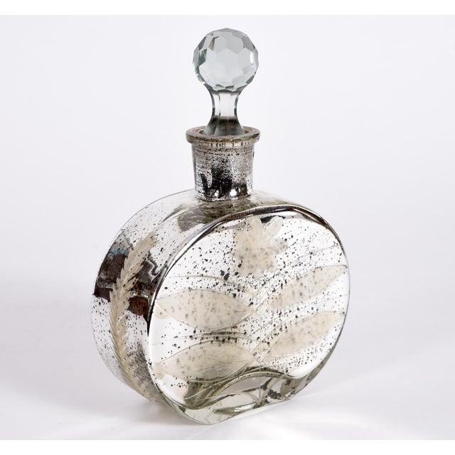 Mercury Glass Decorative Bottle Vanity Piece For Sale - Image 4 of 7