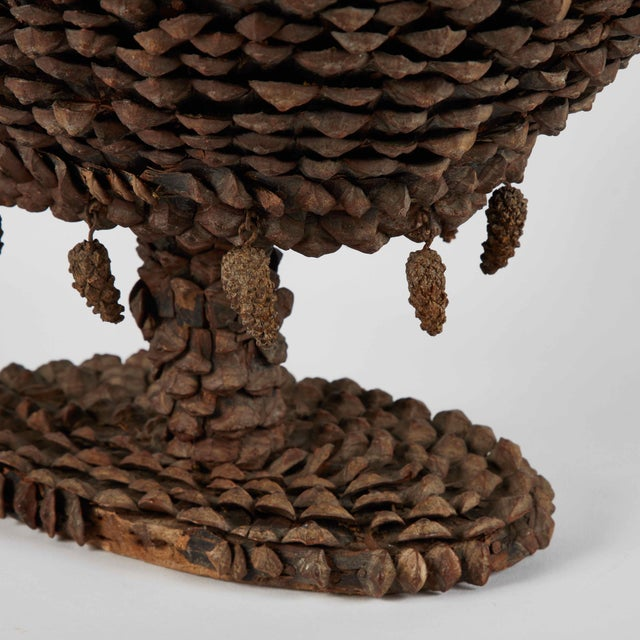 Cooler tazza decorated in pine cones from mid-19th century France.