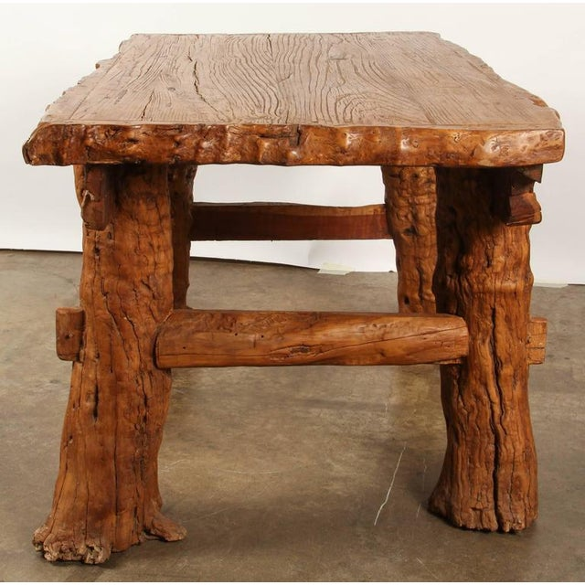 """Chinese Rustic """"Root"""" Table For Sale In Los Angeles - Image 6 of 9"""