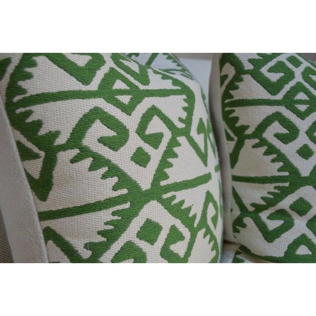 Manuel Canovas Kerala Pillows In Prairie Green Ivory 22 X 22 In A Pair Chairish