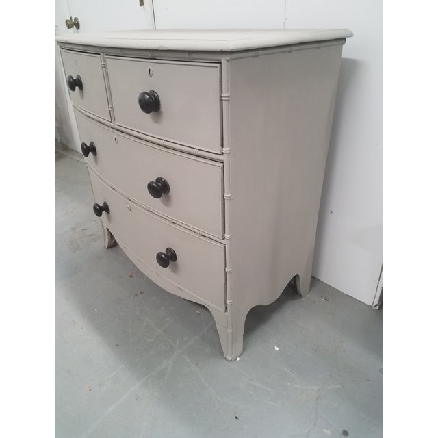 Antique English Painted Chest of Drawers For Sale - Image 4 of 13