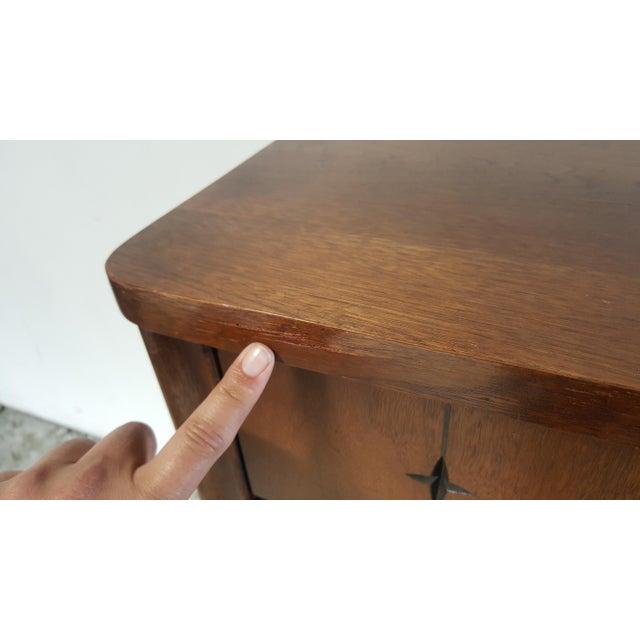 Mid Century Modern Broyhill Saga Walnut High Boy Dresser For Sale - Image 11 of 13
