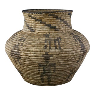 Pima Figurative Basketry Olla, circa 1920