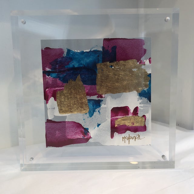 Original Art Floating in Lucite For Sale - Image 11 of 11