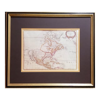 1650 Amérique Septentrionale Framed Map For Sale