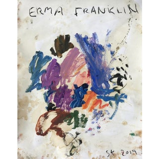 'Erma Franklin' Abstract Oil Painting by Sean Kratzert For Sale