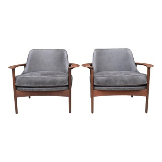 Ib Kofod-Larsen for Selig Lounge Chairs - A Pair