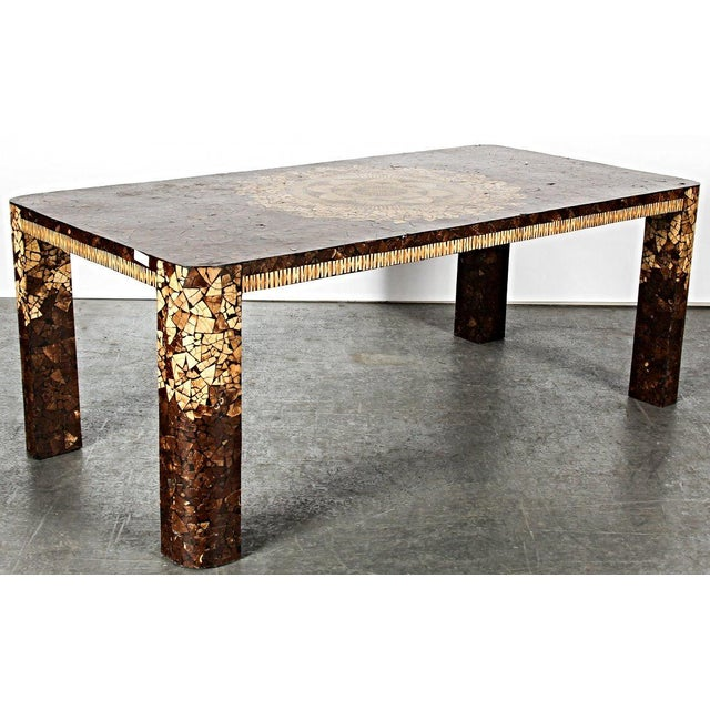 Art Deco Modern Inlaid Dining Table For Sale - Image 4 of 5