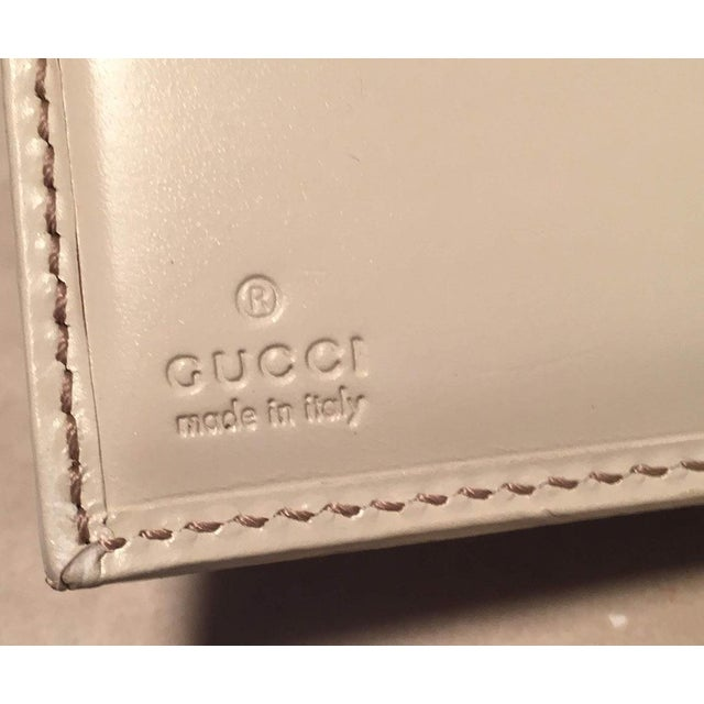 151788bde91c17 Animal Skin Gucci Gg Monogram and Beige Leather Wallet With Zip Pocket and Box  For Sale
