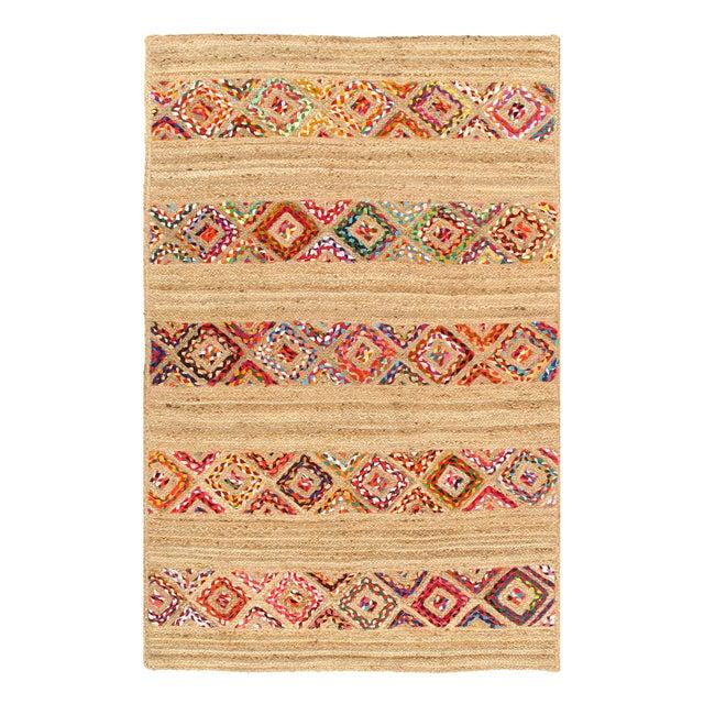 Pasargad Fine Handmade Braided Cotton & Organic Jute Rug - 4' X 6' For Sale - Image 4 of 4