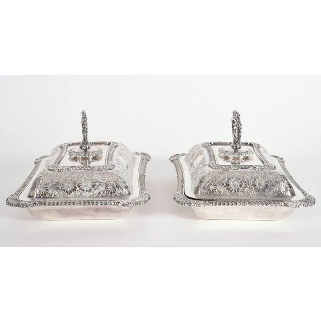 English Silver Plated Tableware Serving Dishes (2 Available) For Sale - Image 12 of 12