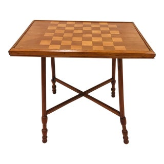 Antique Early American Wooden Game Table