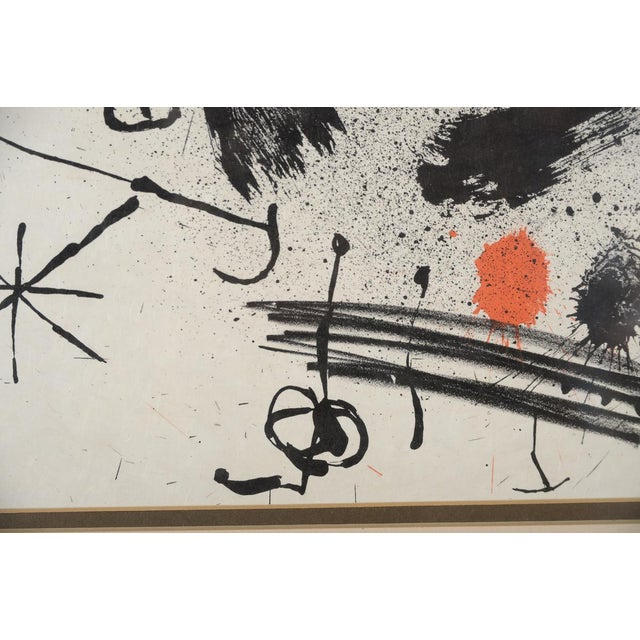 "Mid 19th Century Joan Miro ""Abstract"" Original Lithograph, Signed For Sale - Image 5 of 10"