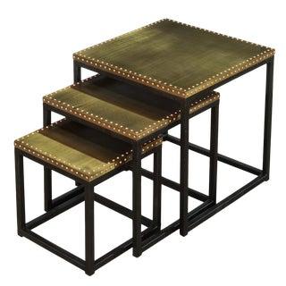 Sarreid Ltd. Industrial Nesting Side Tables - Set of 3 For Sale