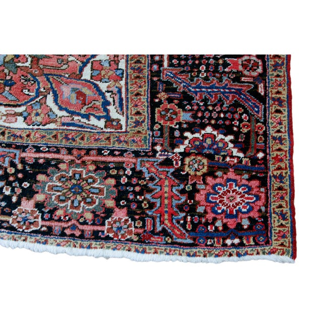 """Red Antique Persian Heriz Rug - 9' 11"""" by 13' 1"""" For Sale - Image 8 of 8"""