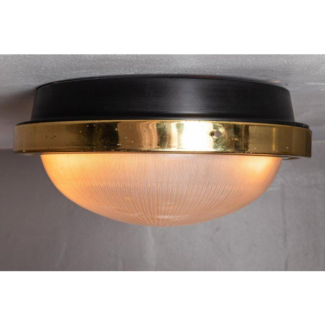1960s Sergio Mazza Brass & Glass Wall or Ceiling Lights for Artemide - A Pair For Sale - Image 9 of 13