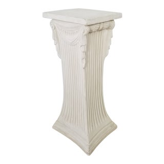 Vintage Hollywood Regency Drape Pedestal For Sale