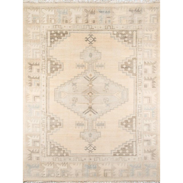 "Erin Gates Concord Walden Beige Hand Knotted Wool Area Rug 5'6"" X 8'6"" For Sale In Atlanta - Image 6 of 6"