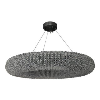 Restoration Hardware Crystal Halo Round Chandelier For Sale