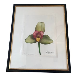 Botanical Water Color Painting Entitled Auburn by Listed Artist John Matthew Moore For Sale